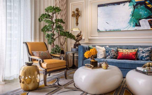 奢华大气客厅窗帘设计图片