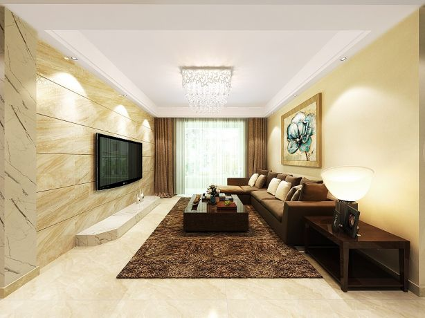 115方后现代风格三居室装修效果图