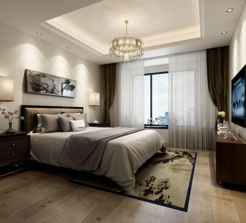 奢华大气卧室窗帘图片