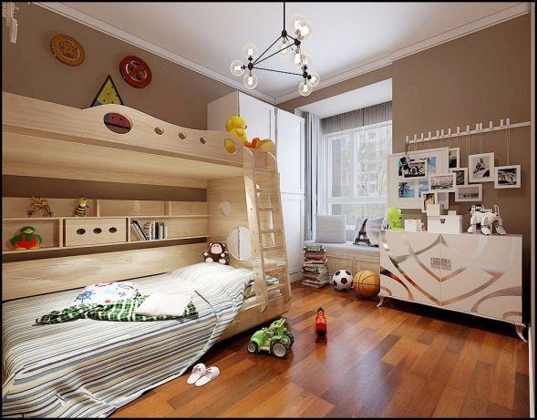 儿童房飘窗简欧风格装潢设计图片