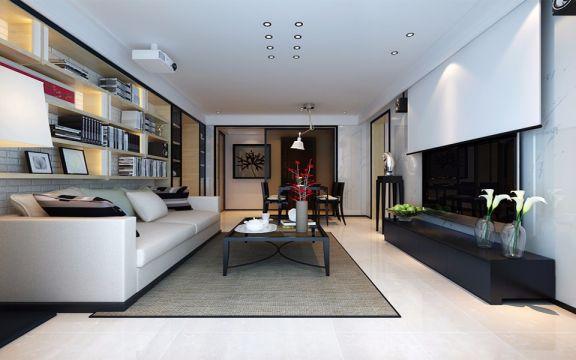 简约风格128平米三室两厅新房装修效果图