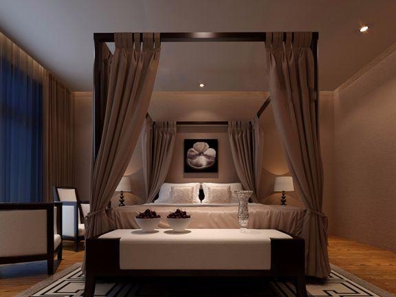 卧室窗帘现代简约装饰实景图