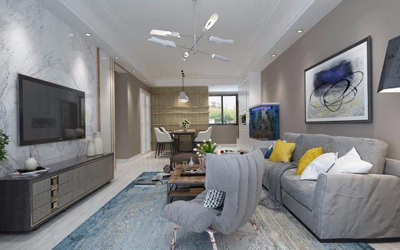 现代简约风格135平米三室两厅新房装修效果图
