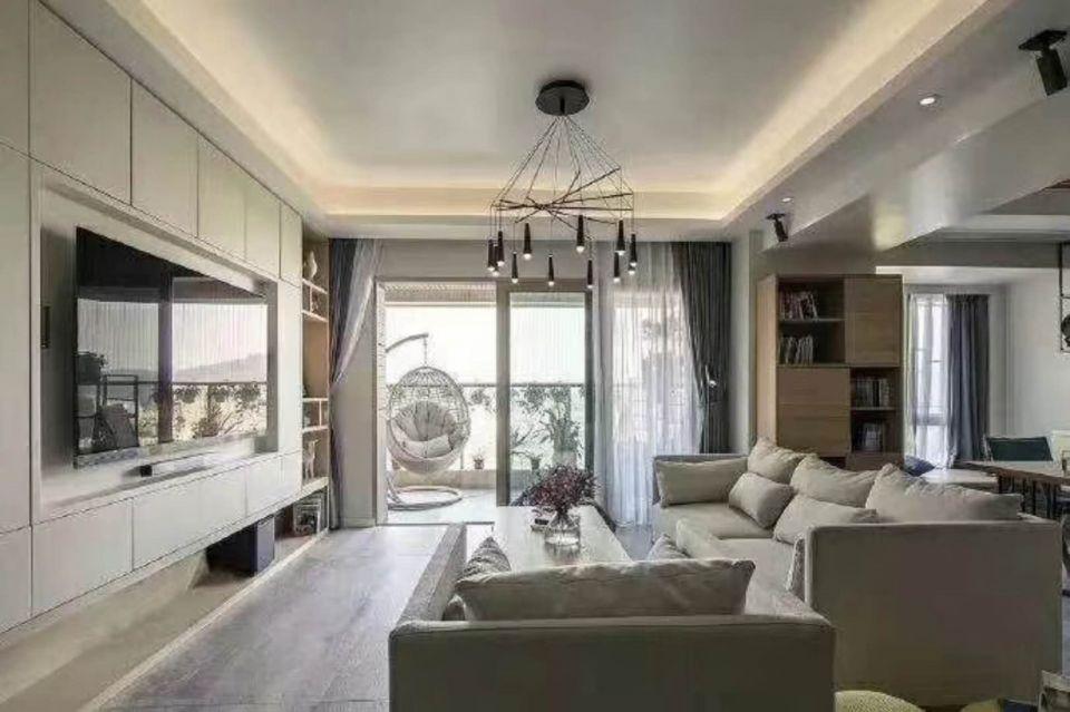 现代简约风格107平米套房室内装修效果图