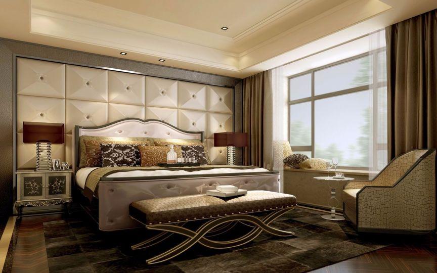 120平方欧式风格四室两厅保利香槟国际效果图