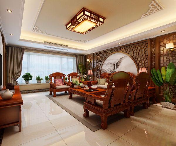 新中式风格270平米四室两厅新房装修效果图