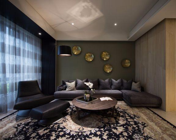 中式风格108平米两室两厅新房装修效果图