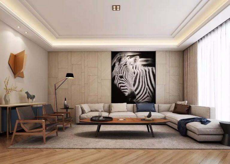 380平米现代四居室装修效果图