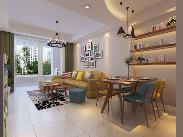 美式风格200平米四室两厅室内装修效果图