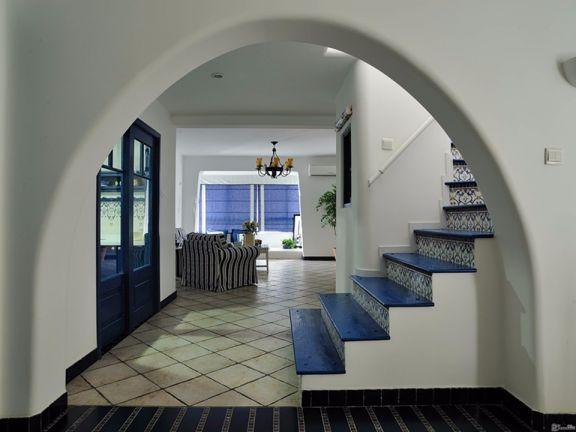 典雅客厅楼梯效果图图片
