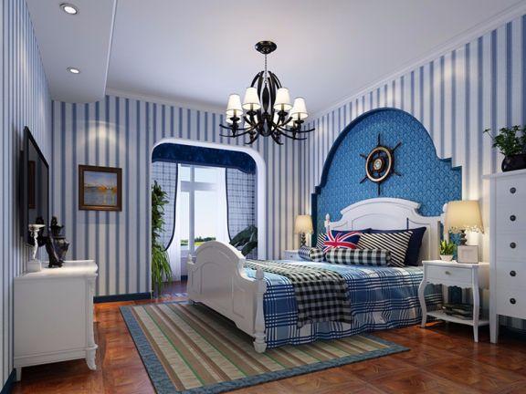 135平方现地中海风格四居室潘墩新城装修效果图