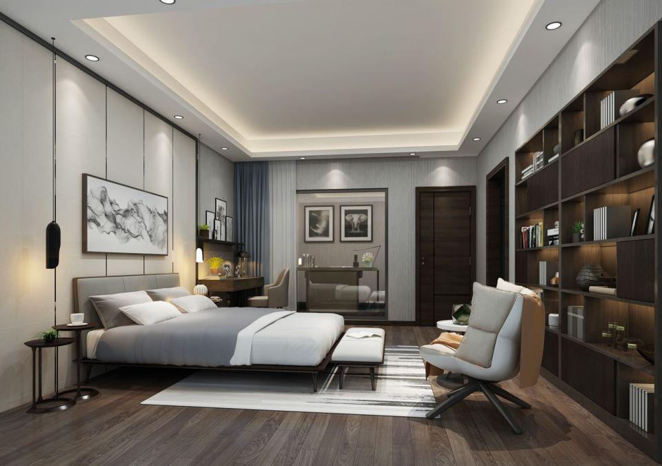 2018现代卧室装修设计图片 2018现代吊顶图片