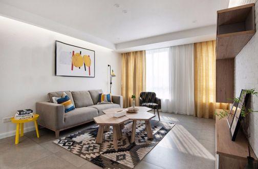 客厅窗帘现代装潢图片