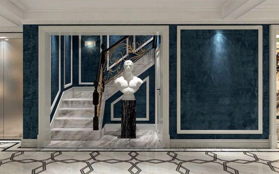 清爽玄关楼梯装修案例图片