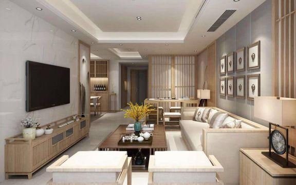 116平方原木日式风格三居室装修效果图