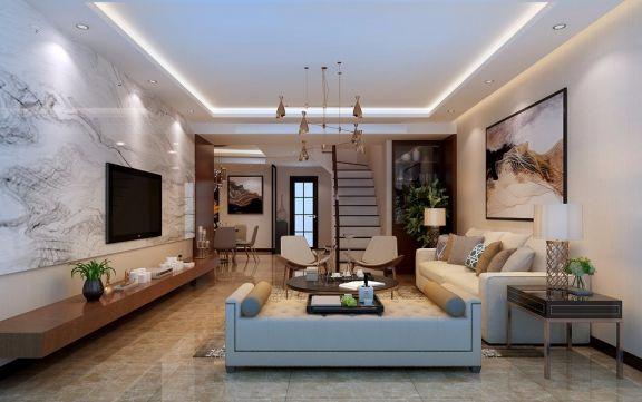 现代风格200平米复式室内装修效果图
