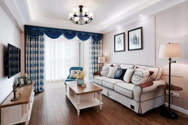 混搭风格98平米两室两厅新房装修效果图