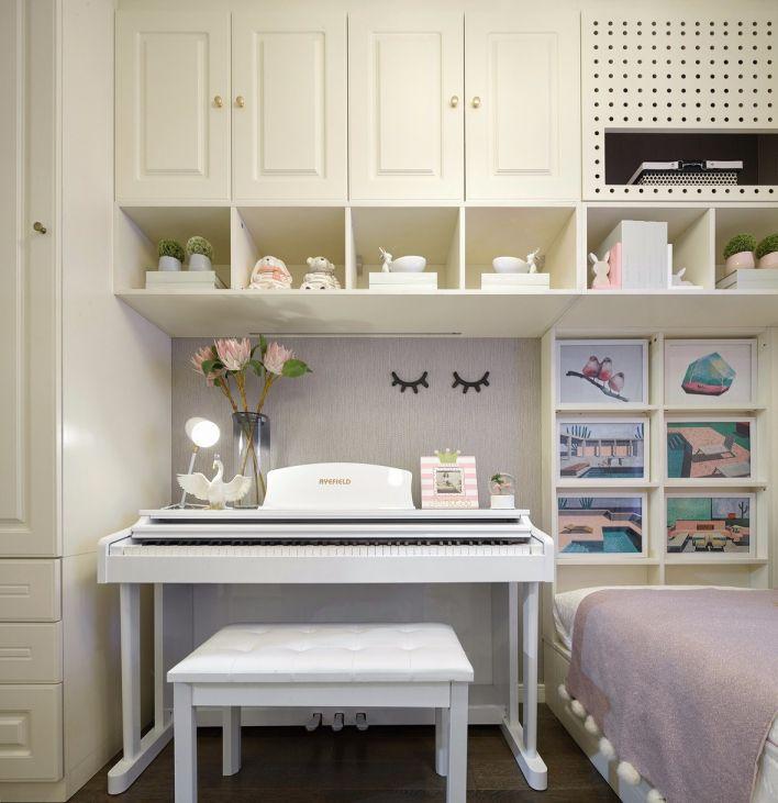 儿童房白色榻榻米室内装修图片