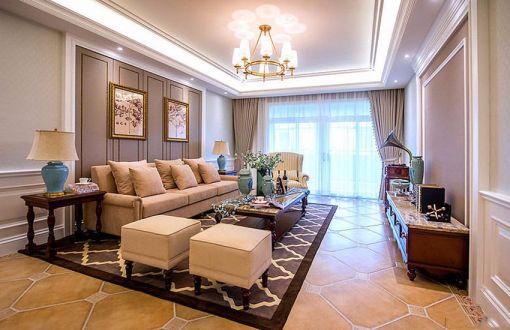 古典风格150平米大户型室内装修效果图