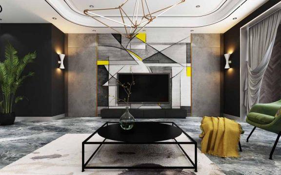 现代风格200平米四室两厅新房装修效果图