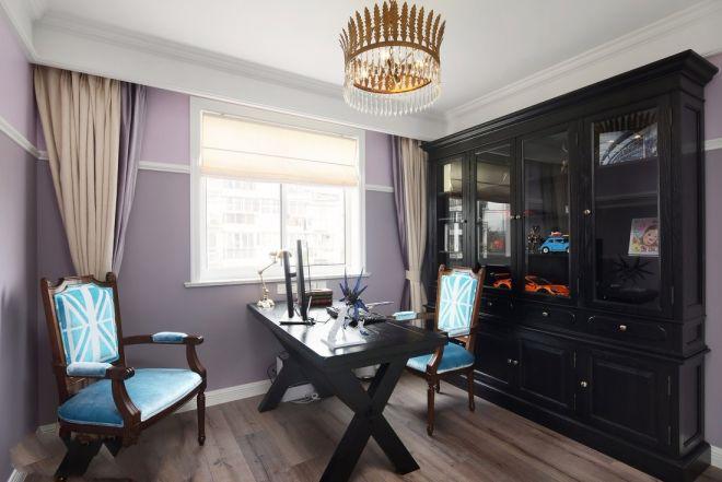 广电兰亭都荟130平现代欧式风格三居室装修效果图