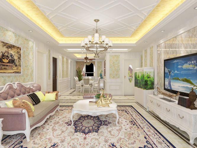 150平米欧式套房装修设计效果图