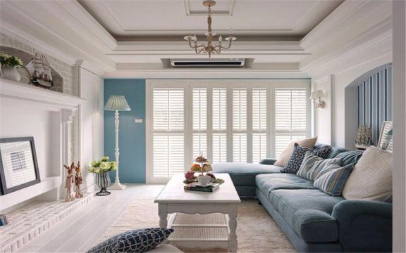 地中海风格120平米两室两厅新房装修效果图