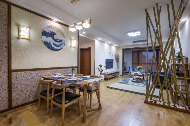 金湖天地98平日系风格一室两厅装修效果图