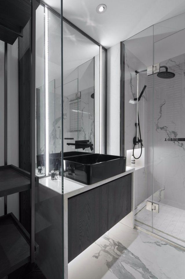 128平米简单三居室装修效果图