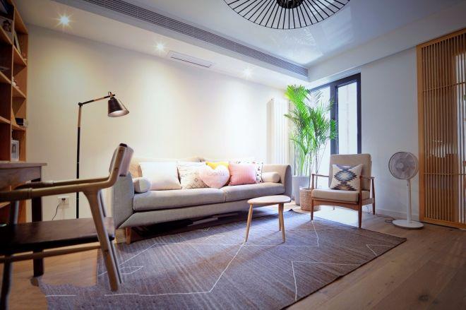 日式风格90平米两室两厅新房装修效果图