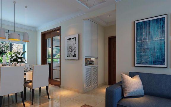 现代简约客厅沙发装潢实景图