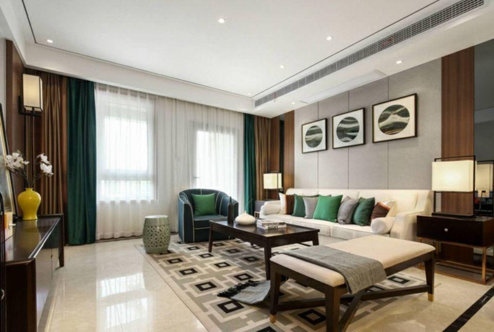 中式风格180平米四室两厅新房装修效果图