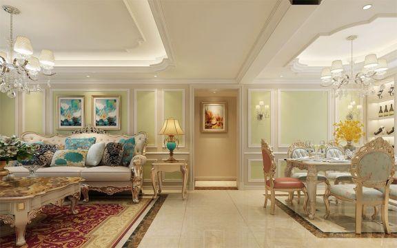 朴素温馨黄色客厅图片