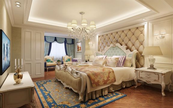 温暖卧室床头柜装饰设计