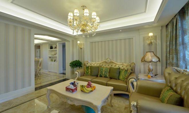简欧风格110平米三室两厅新房装修效果图