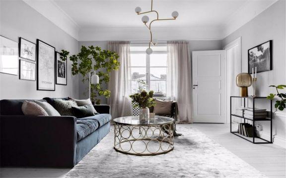 北欧风格78平米三室一厅新房装修效果图