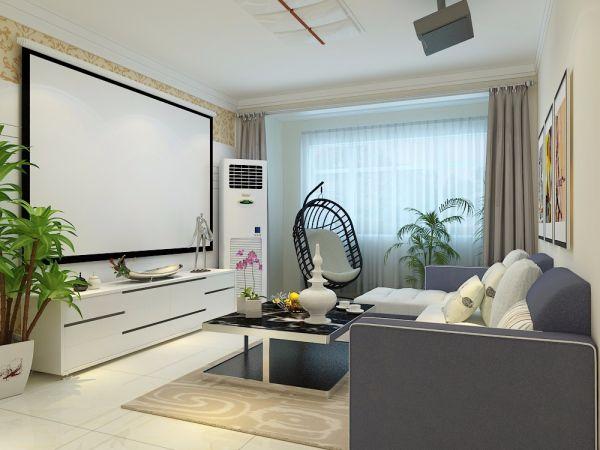 现代简约风格111平米三室两厅新房装修效果图