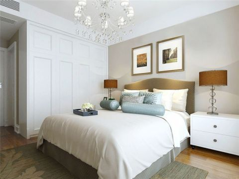 现代简约风格95平米三室两厅新房装修效果图