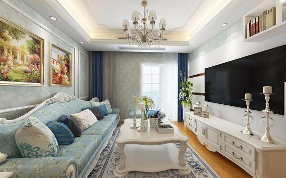 120平米欧式风格三居室装修效果图
