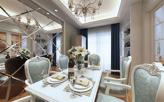 餐厅餐桌欧式风格装潢设计图片