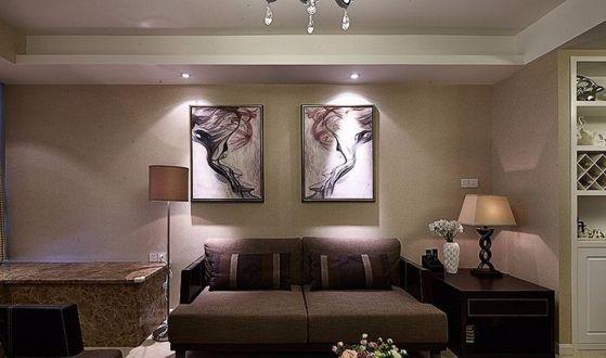现代风格71平米两室两厅新房装修效果图