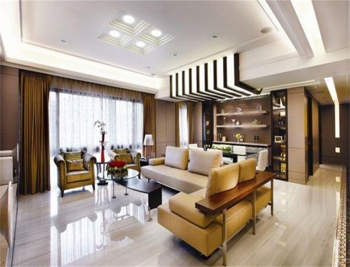 中式风格146平米三室两厅新房装修效果图