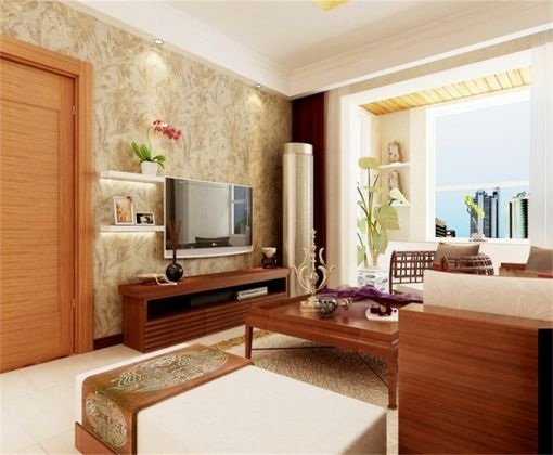 客厅电视柜东南亚风格装修图片