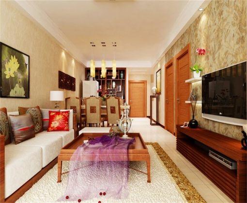 客厅茶几东南亚风格装饰图片