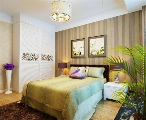 卧室衣柜东南亚风格效果图