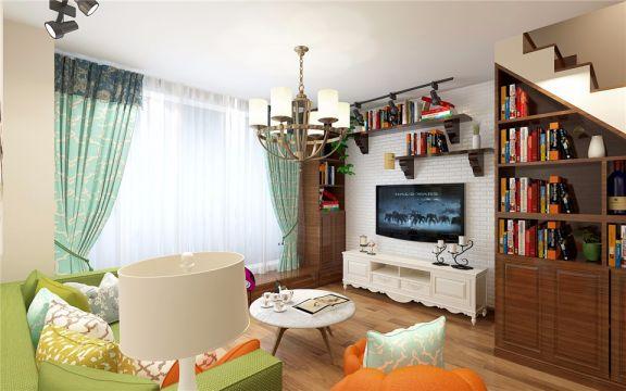 混搭风格40平米一居室新房装修效果图