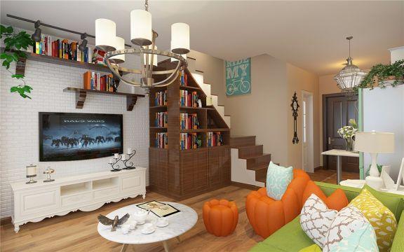 客厅灯具混搭风格装饰效果图