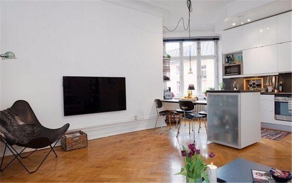 客厅地板砖简约风格装修图片