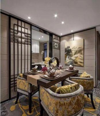 新中式风格100平米两室一厅新房装修效果图
