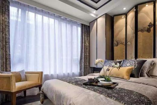 卧室窗帘新中式风格装潢图片